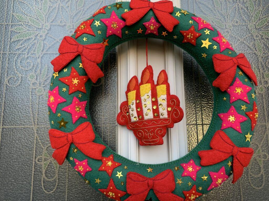 毎年のクリスマスリース