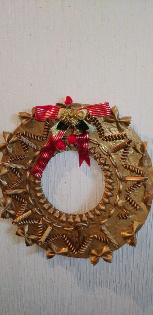 クリスマス手作りリース